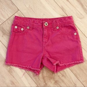 Justice Shorts Pink Simply Low Size 12